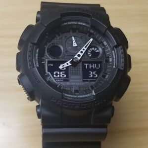 G shock ga-100 black-white